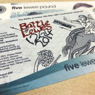 The Lewes Pound Local Currency Celebrating The Battle of Lewes image